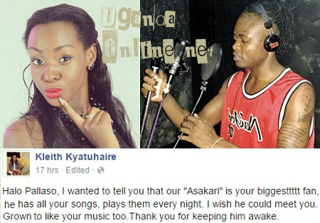 Kleith Kyatuhaire'madly twisted message to Pallaso