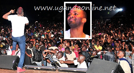 Konshens during his last performance in Kampala