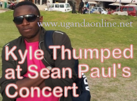 Kyle Kushaba was beaten by thugs at Lugogo during the Sean Paul Concert