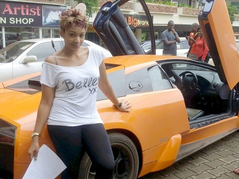 Zari and her orange beast at Garden city last year