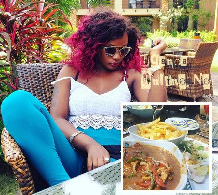 Leila at Speke Resort Munyonyo before the fight