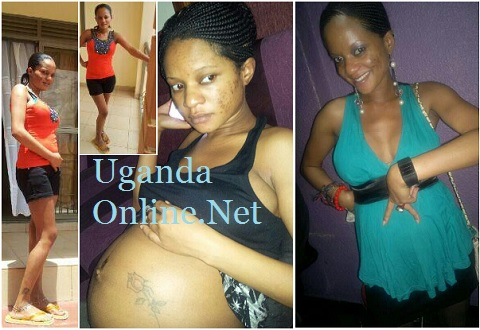 Lindah Lisa before and after giving birth