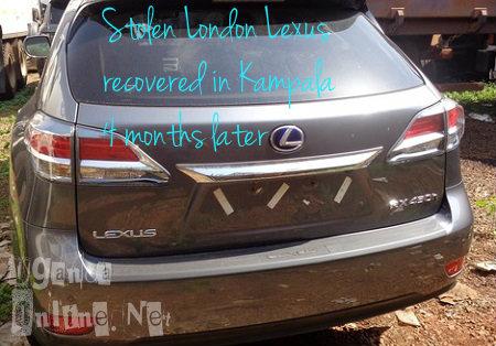 Stolen London Lexus recovered from Kampala
