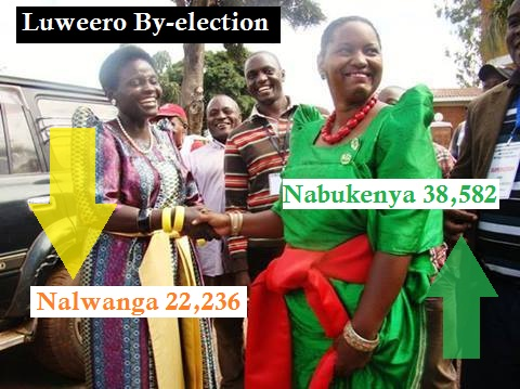 NRM and DP candidate shake hands before the poll