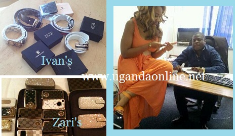 Ivan gave Zari Iphone bags while Zari gave him LV and Gucci Belts and a wallet
