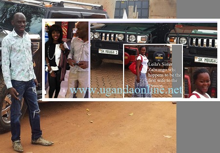 Tycoon Mbuga with Leila and inset is his pregnant wife of three boys with the tycoon