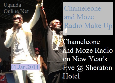 Chameleone and Moze Radio ushering in the new year at Sheraton Hotel