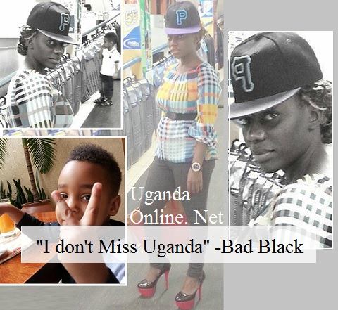 Bad Black at a supermarket with her son Jonah