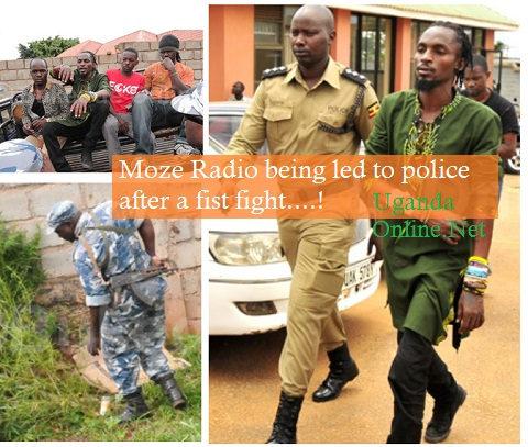 Moze Radio being let to police after a fist fight with Pallaso