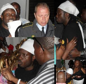 Bebe Cool exchanging with fans before he was arrested in Denmark