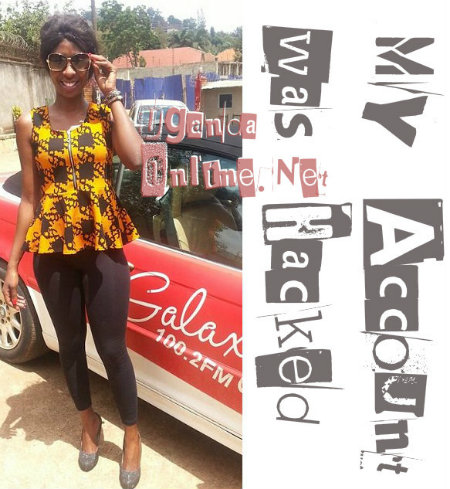 Cindy at the Galaxy FM offices in Gaba