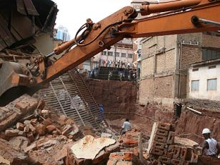 Mirembe Shopping Arcade Collapses