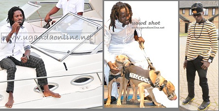 Bobi Wine on his 'boat', Bebe and his dogs during the last album launch and Chameleone in the UK during the Easter Holiday