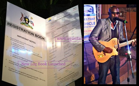 A copy of the log book that is issued by the system after registering and the guitar man was Maurice Kirya entertaining guests