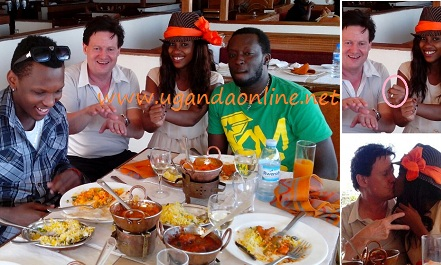 Toniks, Nico, Esther and friend during their engagement luncheon