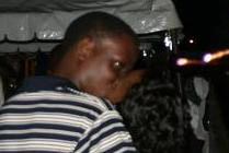 Couple Kissing into the new year