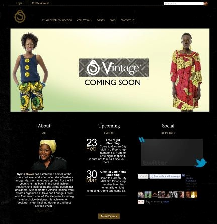A snapshot of Sylvia Owori's new site