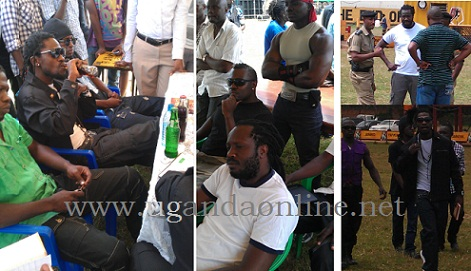 Bobi Wine and Bebe Cool camps at Kyadondo Rugby Grounds
