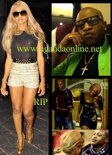 Goldie in Kampala last year and inset is Prezzo and Goldie in the Big Brother House