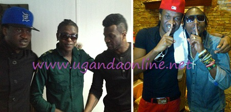 Chameleone with P-Square in Rwanda and Moze with a P-Square guy in Uganda recently