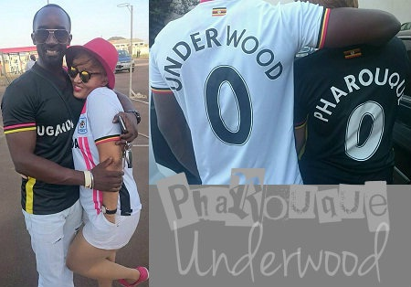 Football lovers - Farouk and Ebonies' actress, Julie Underwood
