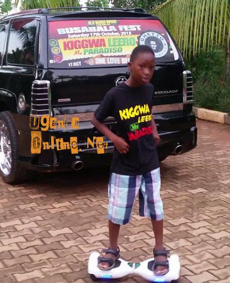 Bobi Wine's son on the segway board