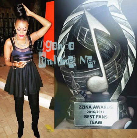 Sheebah is the Zzina 2016-2017 female artist