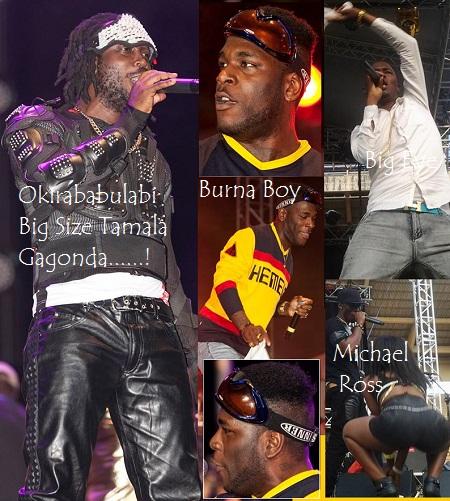 Bebe Cool, Burna Boy, Big Eye and Michael Ross performing at Namboole