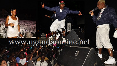 Sisqo unleashing his swagg at Kyadondo Rugby Grounds.