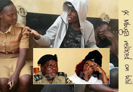 SK Mbuga chats up a Prison's female officer and inset is Leila