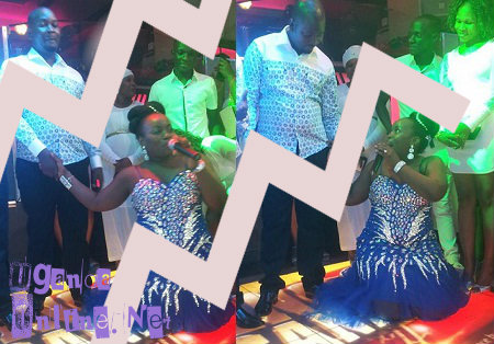 Stecia Mayanja and hubby during their stag night at Guvnor