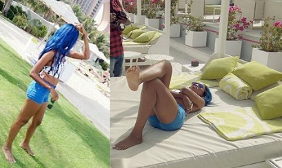 Spice Diana chillaxing in DXB