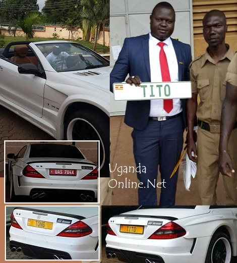 Tito Tong's Merc with three number plates