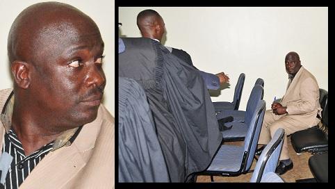 Tom Mukomazi giving his testimony on Meddie