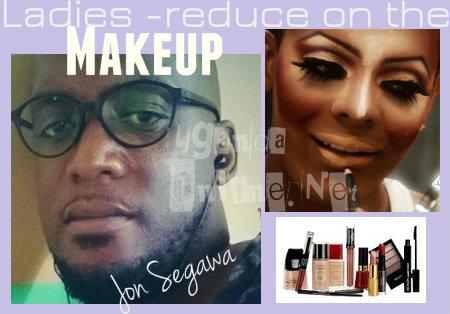 Jon Segawa advises ladies on earting too much makeup