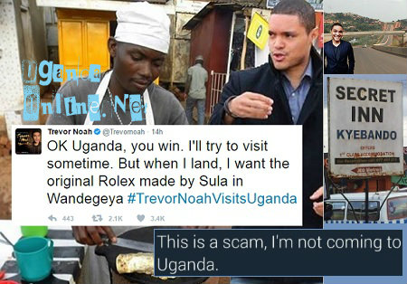 Trevor Noah confirms he will be coming to Uganda
