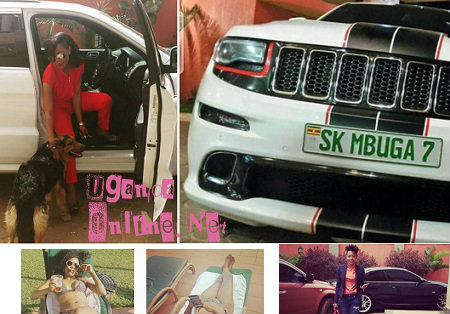 Vivienne spotted in the SK Mbuga 7 jeep