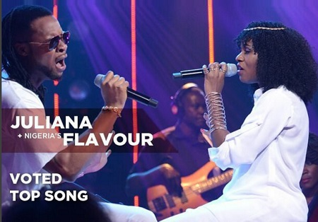 Nigeria's Flavour and Juliana performing