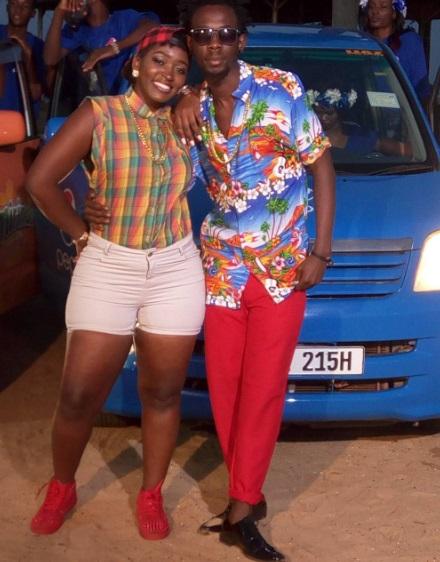 Winnie Nwagi and Mun G strike a pose on one of the Noah's