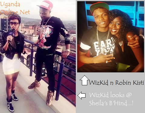 Wizkid staring at Sheila's behind and inset he feels Robin Kisti
