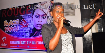 Lillian performing at Club Rouge during the Tsup Swagg Party