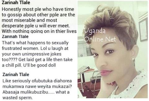 Zari responds to Luswata