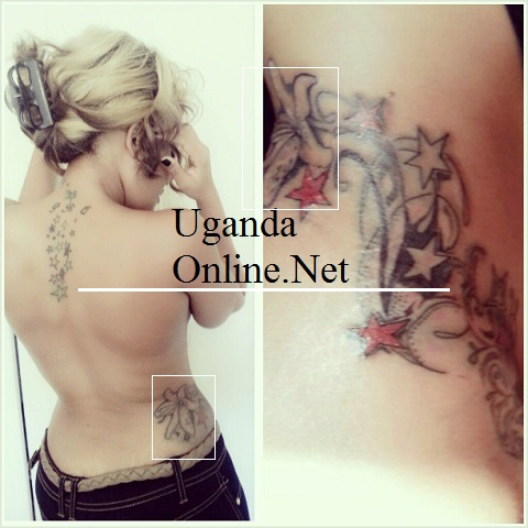 Zari showing off her new tattoo