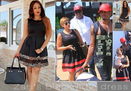 Zari's black little dress