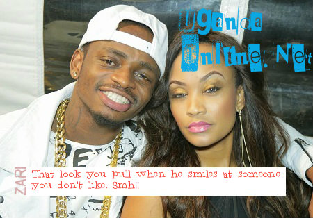 That is Zari's looks when Diamond smiles at a hot babe