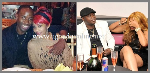 Zari with Isaac Lugudde and on the right is Zari and the father of her three kidz