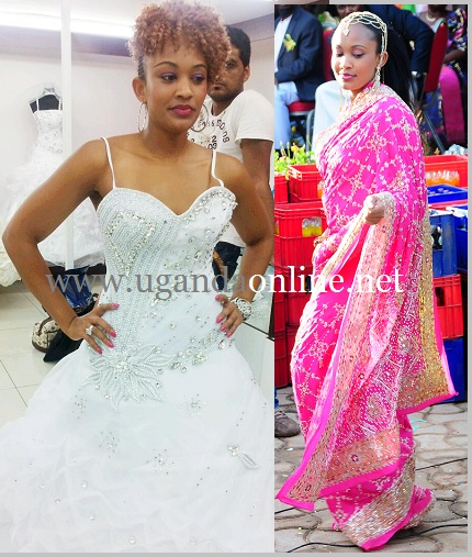 Zari tries out her wedding dress and in pink is Zari donning a Sari on her introduction day