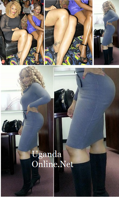In black is Zari on her last trip to Uganda and in boots was yesterday