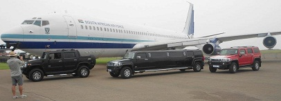 The fleet of hummers and the plane Zari used in her video