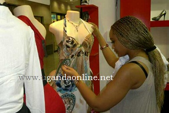 Zari in her boutique in South Africa